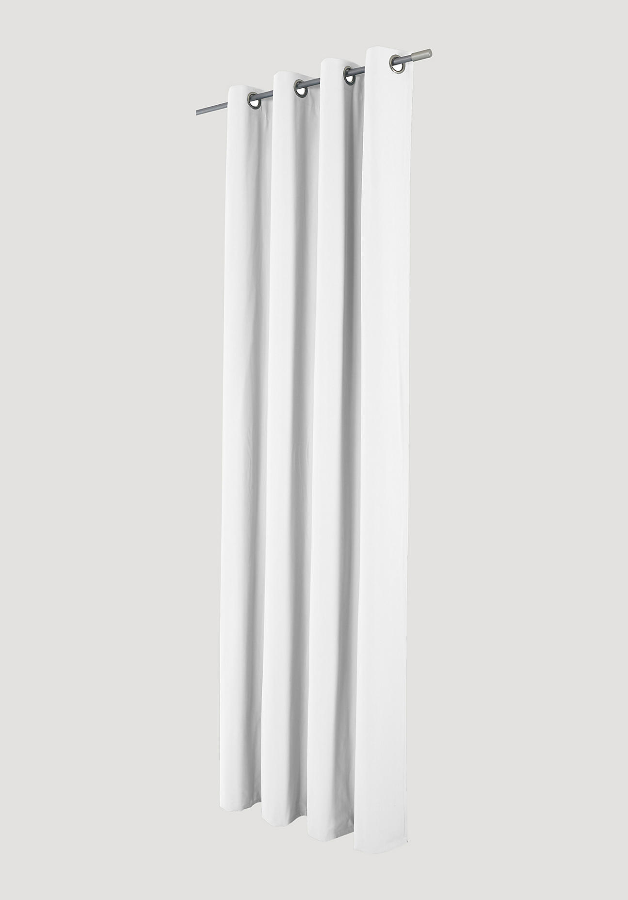 hessnatur Vorhang mit Ösen aus Bio-Baumwolle – weiß – Größe 245x132cm
