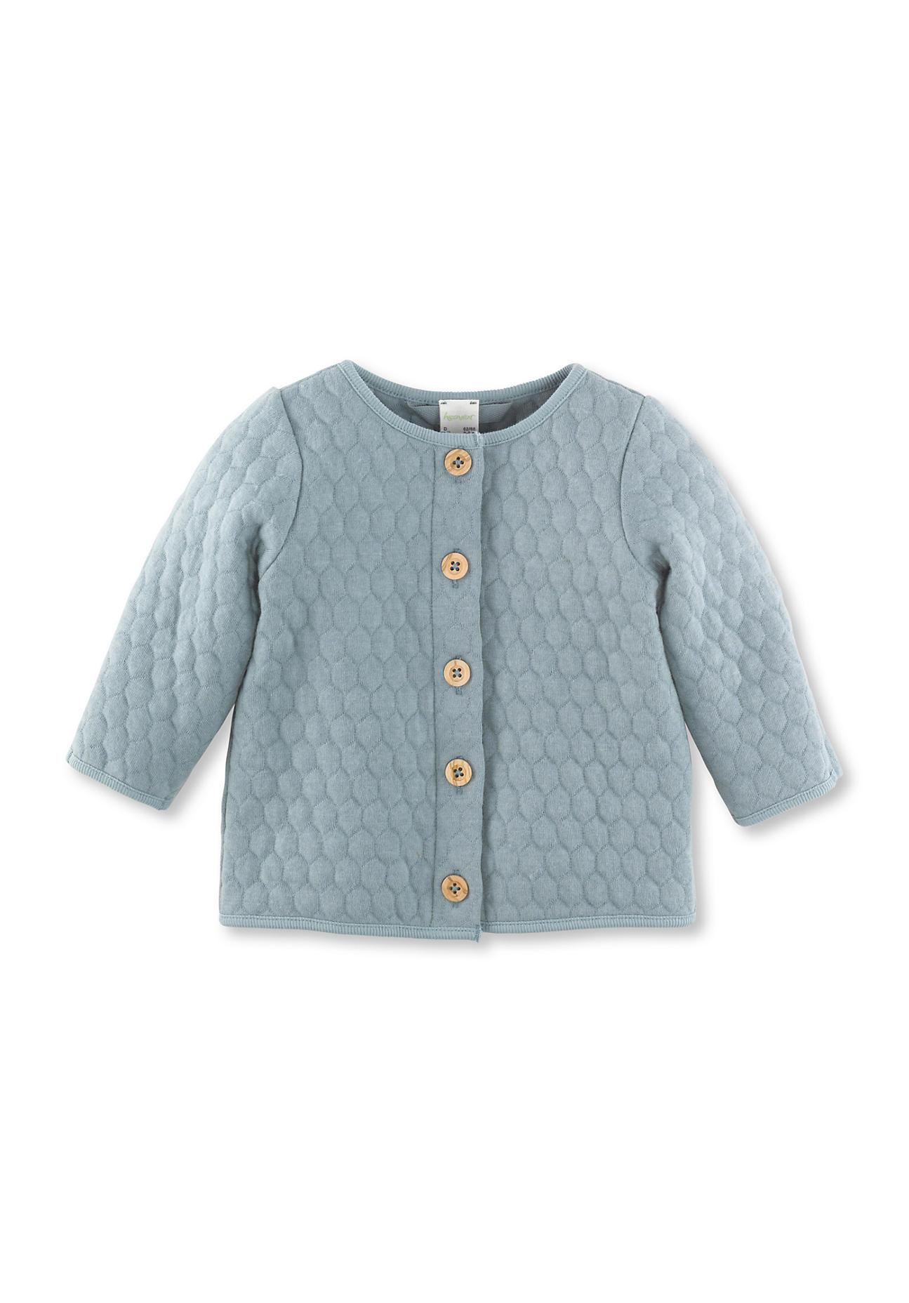 hessnatur Baby Wattierte Jacke aus Bio-Baumwolle mit Bio-Schurwolle – blau – Größe 86/92