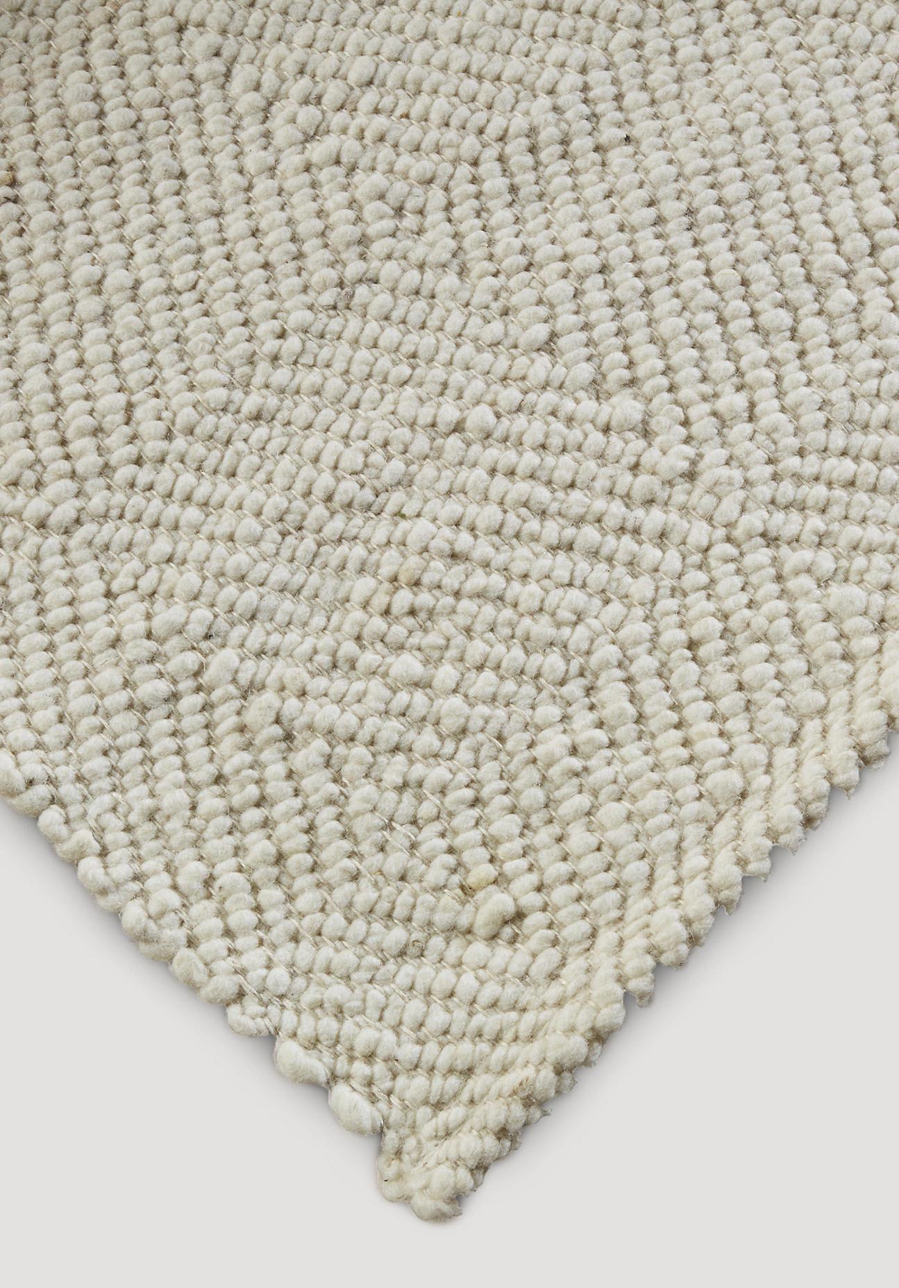 hessnatur Webteppich Ruga aus Deichschafwolle – naturfarben – Größe 70x140 cm