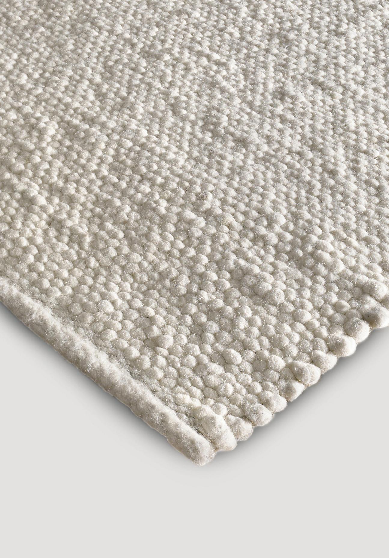 hessnatur Webteppich aus Deichschaf-Wolle – naturfarben – Größe 70x140 cm