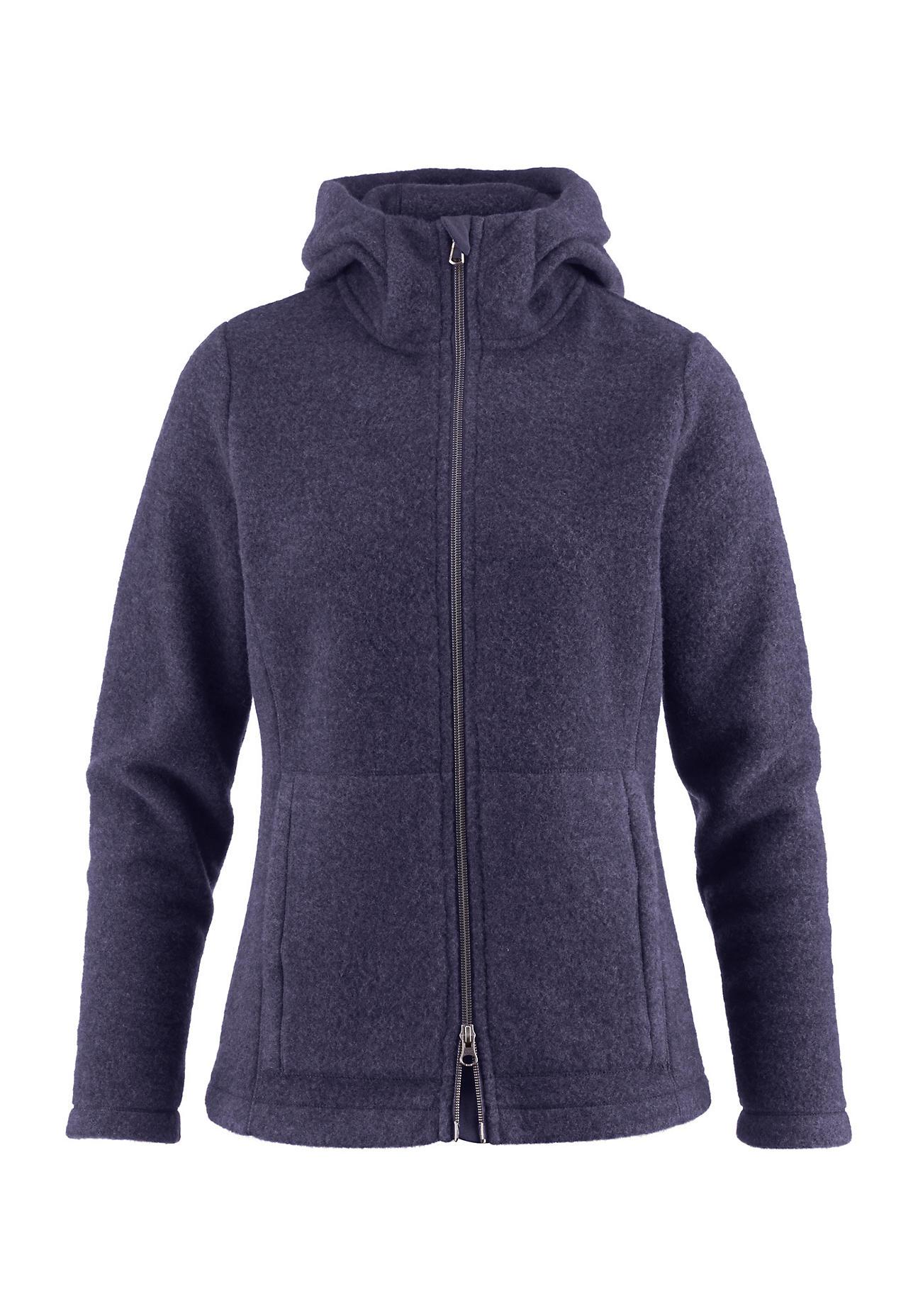 hessnatur Outdoor Wollfleece-Jacke für Sie aus Bio-Schurwolle – lila – Größe 44 | Sportbekleidung > Sportjacken > Outdoorjacken | Traube | hessnatur