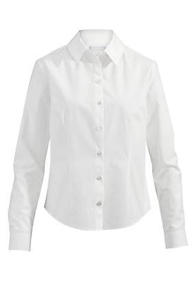 hessnatur Basic-Bluse aus Bio-Baumwolle, Größe 40, weiß von Hess Natur in black - Schwarz für 0,00€