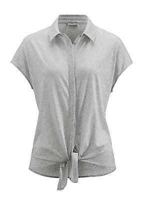 hessnatur Bluse aus Bio-Baumwolle, Größe 42, grau von Hess Natur in black - Schwarz für 0,00€