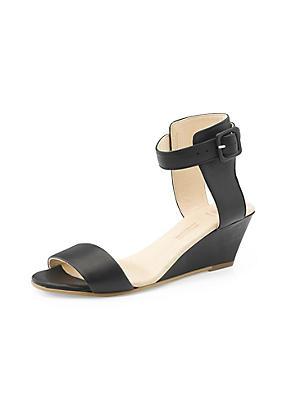hessnatur Damen Sandalette aus Leder, Größe 38, schwarz von Hess Natur in black - Schwarz für 0,00€
