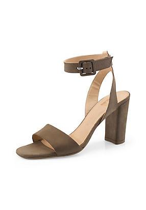hessnatur Damen Sandalette aus Leder, Größe 38, beige von Hess Natur in black - Schwarz für 0,00€