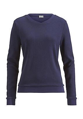 hessnatur Damen Sweatshirt aus Bio-Baumwolle, Größe 36, blau von Hess Natur in black - Schwarz für 0,00€