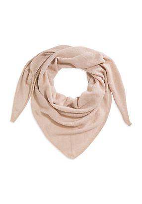 hessnatur Dreiecks-Tuch aus Bio-Baumwolle mit Mohair und Seiden-Mix, Größe BxL 80x200cm, rosa von Hess Natur in black - Schwarz für 0,00€