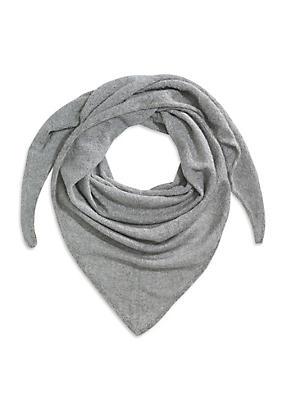 hessnatur Dreiecks-Tuch aus Bio-Baumwolle mit Mohair und Seiden-Mix, Größe BxL 80x200cm, grau von Hess Natur in black - Schwarz für 0,00€