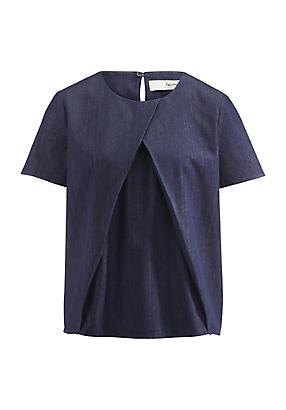 hessnatur Jeansbluse aus Bio-Baumwolle, Größe 36, blau von Hess Natur in black - Schwarz für 0,00€