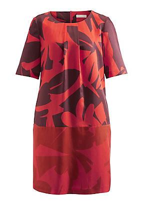 hessnatur Kleid aus Bio-Baumwolle mit Seide und Hanf, Größe 40, rot von Hess Natur in black - Schwarz für 0,00€