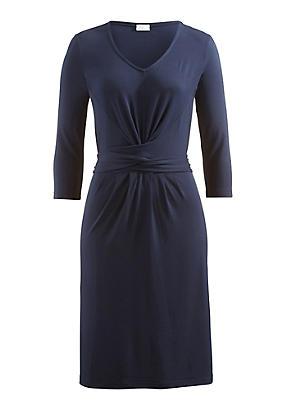 hessnatur Kleid aus Modal, Größe 44, blau von Hess Natur in black - Schwarz für 0,00€