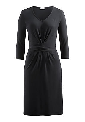 hessnatur Kleid aus Modal, Größe 42, schwarz von Hess Natur in black - Schwarz für 0,00€