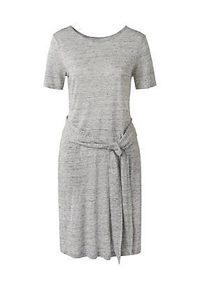 hessnatur Kleid aus Leinen, Größe 36, grau von Hess Natur in black - Schwarz für 0,00€
