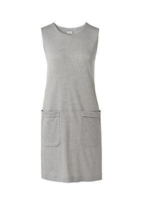 hessnatur Kleid aus Bio-Baumwolle, Größe 42, grau von Hess Natur in black - Schwarz für 0,00€