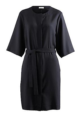 hessnatur Mantel aus Modal mit Schurwolle, Größe 42, blau von Hess Natur in black - Schwarz für 0,00€