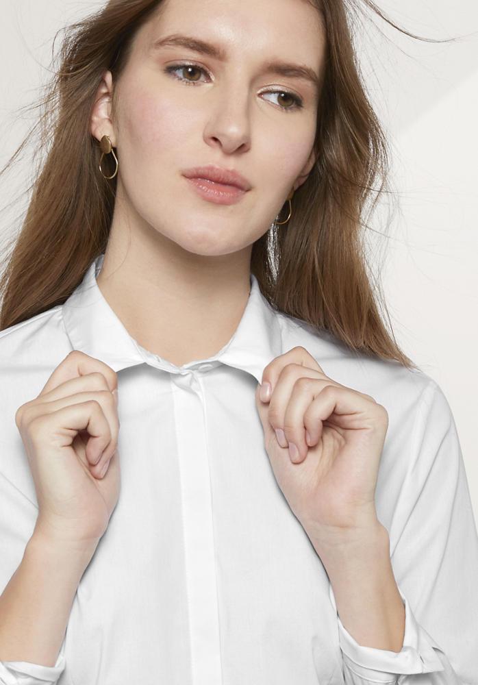 Bluse Slim Fit aus Bio-Baumwolle