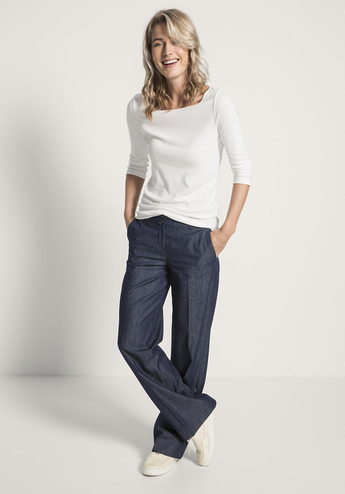 Jeans Flared aus reinem Bio-Denim