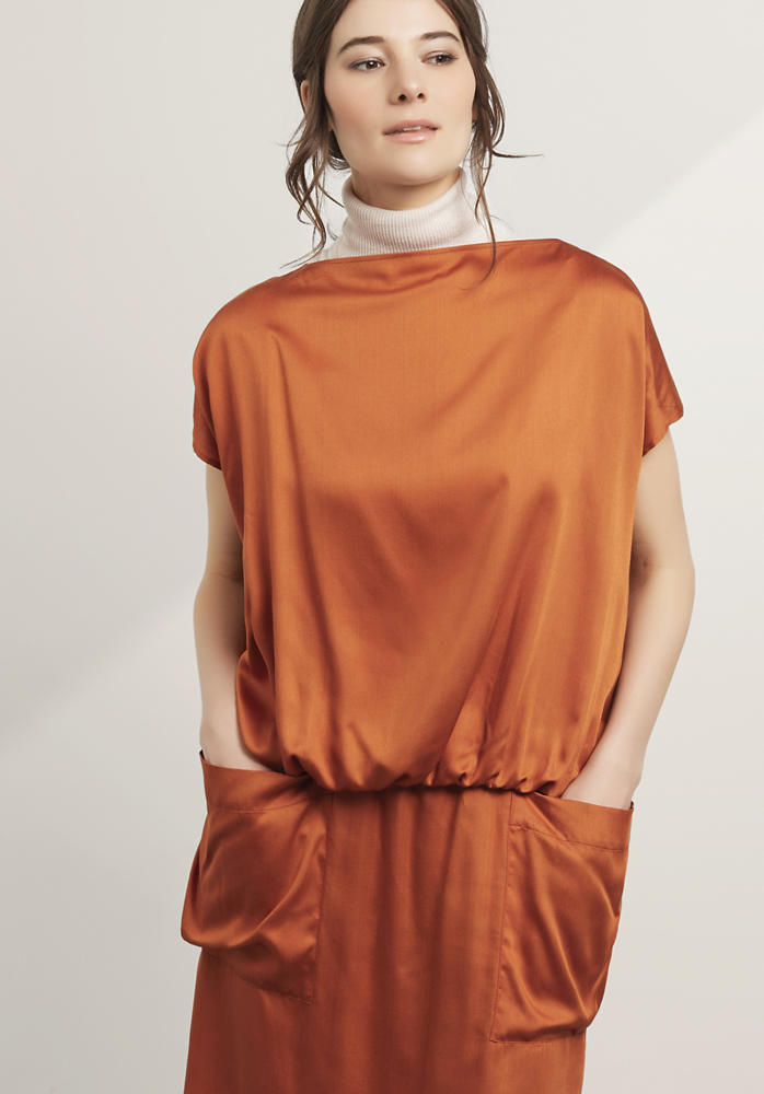Zero Waste Bluse aus reinem Modal