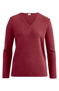 V-Pullover aus reiner Bio-Merinowolle