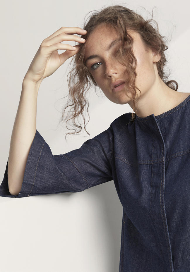 Jeansjacke aus reiner Bio-Baumwolle