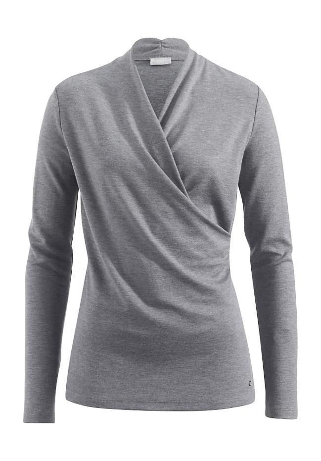 Langarm-Shirt aus Modal mit Bio-Baumwolle