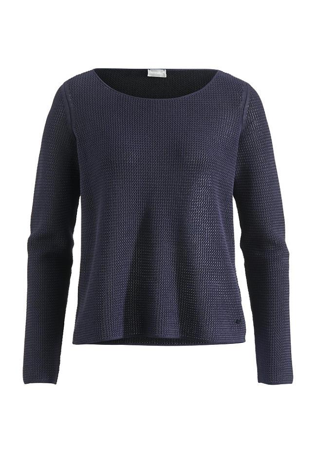 Fein gestrickter Pullover aus Bio-Baumwolle - perfekt über ein Jeanshemd. Von Hessnatur um 80€