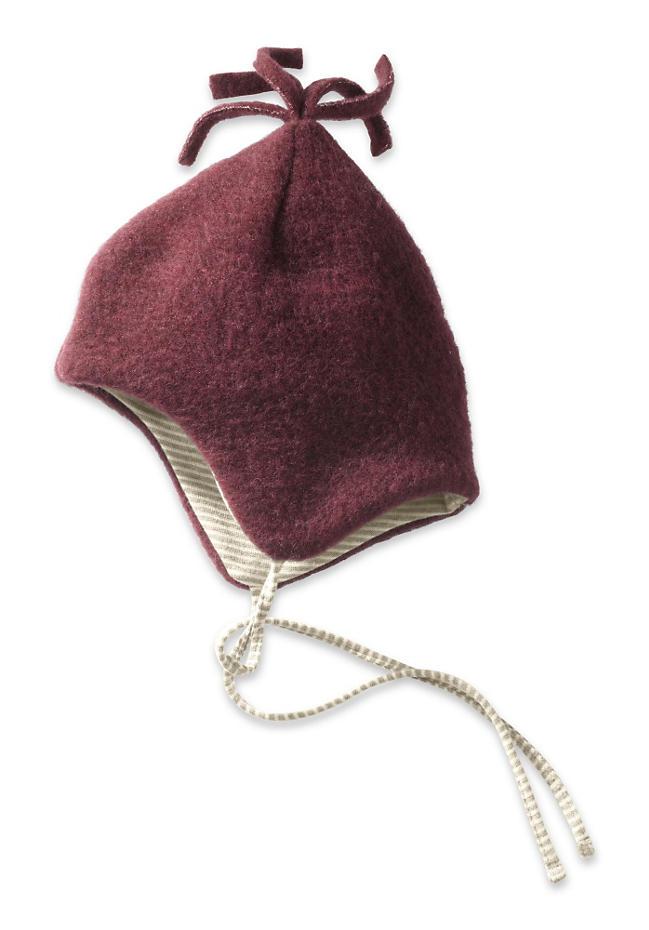 Wollfleece Mütze aus reiner Bio-Merinowolle
