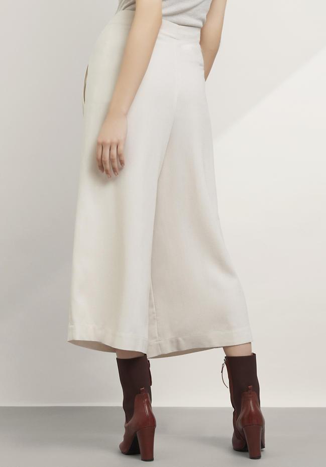 Zero Waste Culottes aus Modal mit Schurwolle