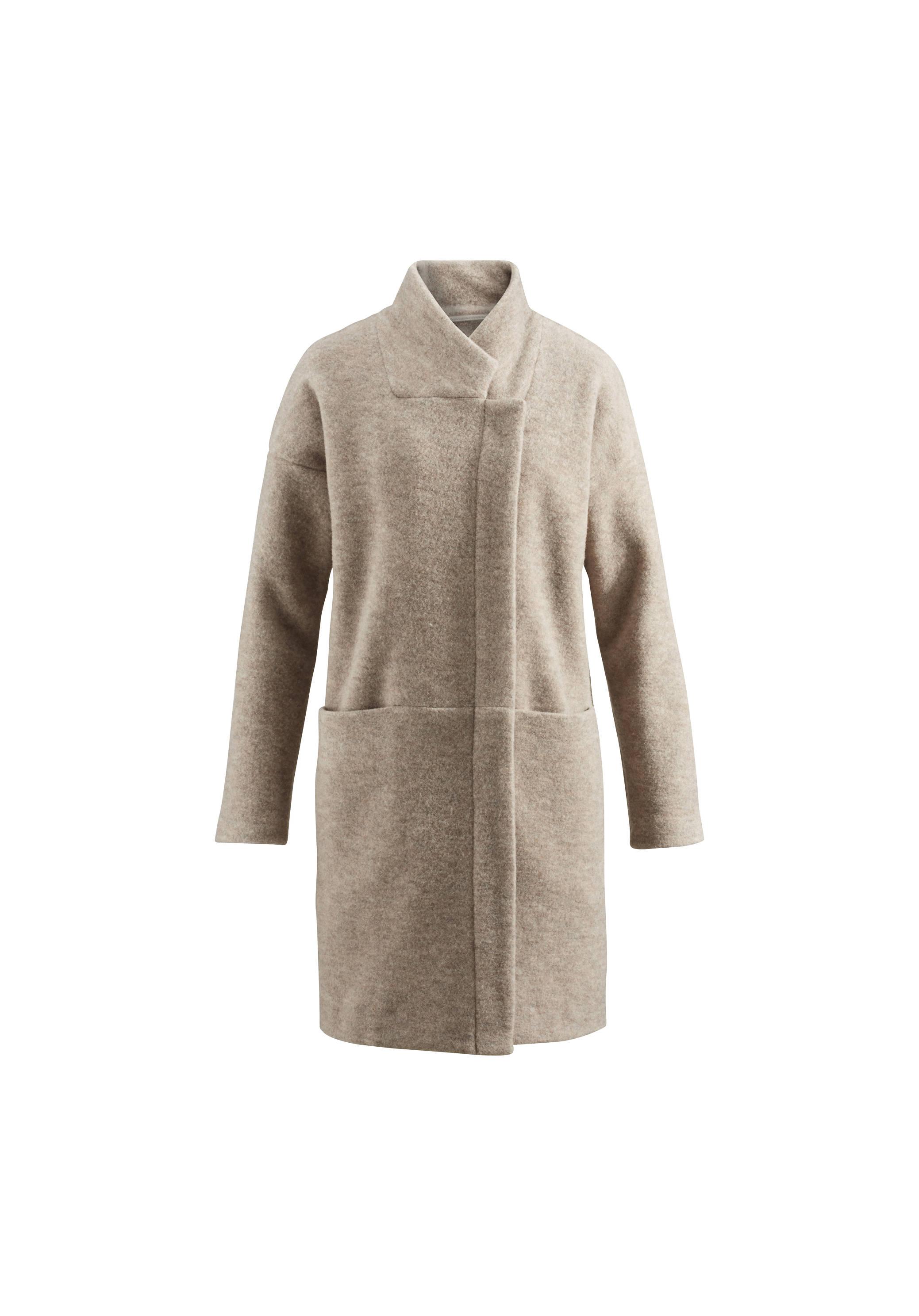 Mantel damen schurwolle