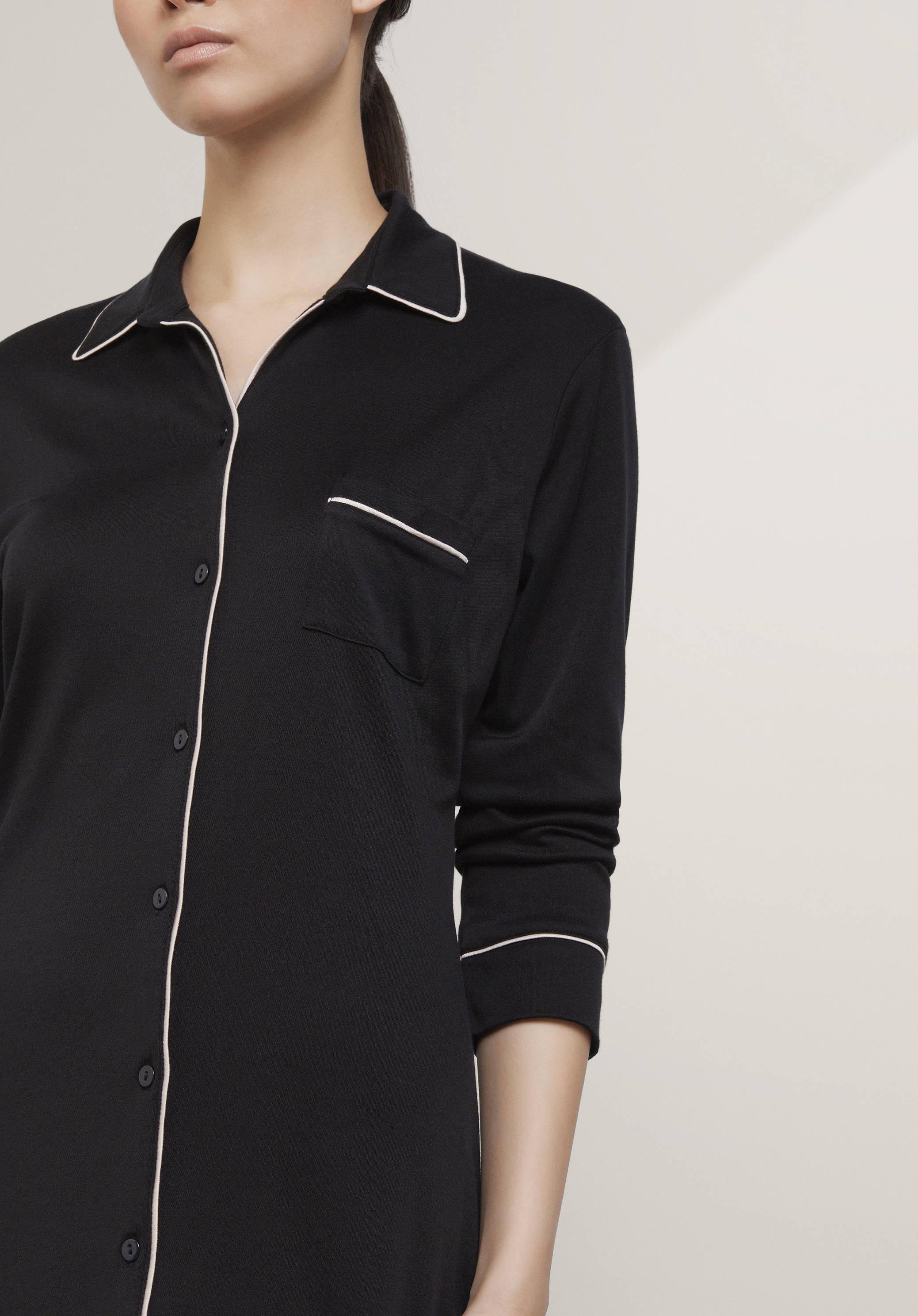 damen nachtw sche pyjamas aus bio baumwolle hessnatur deutschland. Black Bedroom Furniture Sets. Home Design Ideas