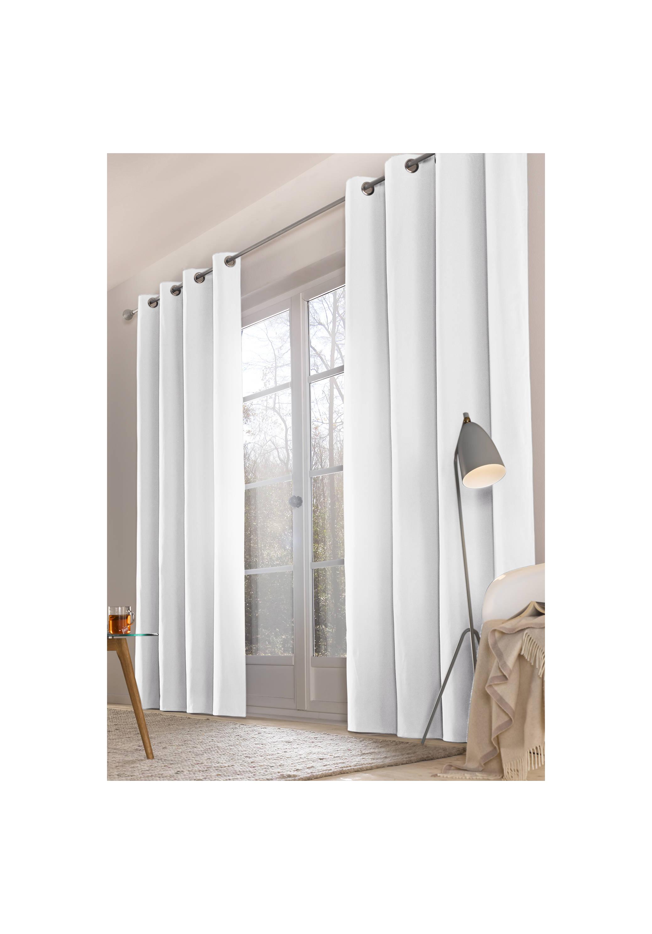 vorhang neveres mit sen aus reiner bio baumwolle. Black Bedroom Furniture Sets. Home Design Ideas