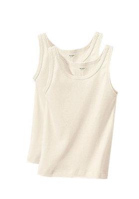 Unterhemden - Achselhemd 2er-Set aus reiner Bio-Baumwolle