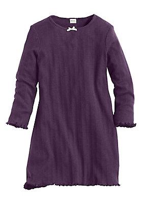 Schlafwäsche - Ajour Nachthemd aus reiner Bio-Baumwolle