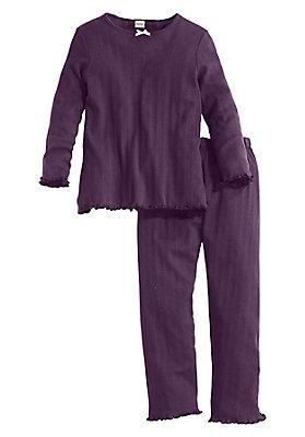 Schlafwäsche - Ajour Pyjama aus reiner Bio-Baumwolle