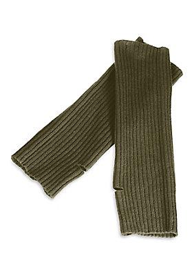 damenkleidung-aus-schurwolle - Arm-Stulpen aus Schurwolle mit Kaschmir