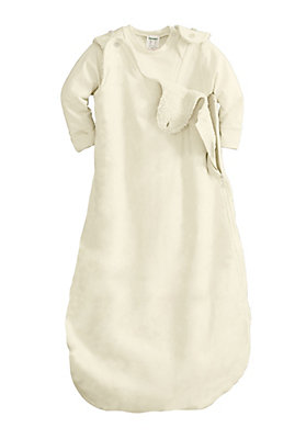 - Baby Plüsch-Schlafsack aus reiner Bio-Baumwolle