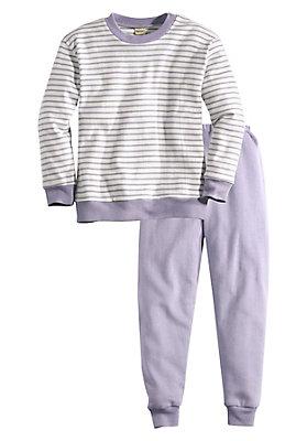 - Basic Pyjama Mädchen aus reiner Bio-Baumwolle