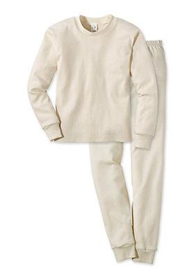 - Basic Pyjama uni aus reiner Bio-Baumwolle