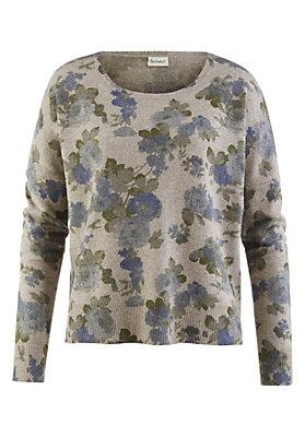 - Bedruckter Pullover aus Schurwolle mit Kaschmir