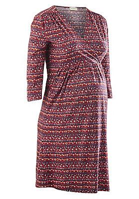 - Bedrucktes Still Kleid aus reiner Bio-Baumwolle