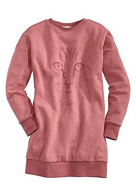 - Bedrucktes Sweatkleid aus reiner Bio-Baumwolle