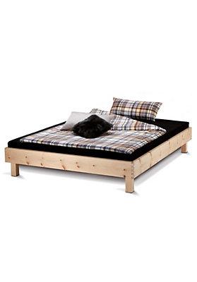 - Bett Step-X mit Holzbeinen