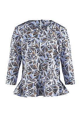- Bluse aus Baumwolle mit Hanf und Seide