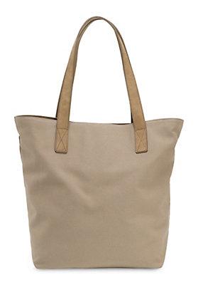 - Canvas-Tasche aus Bio-Baumwolle und Leder