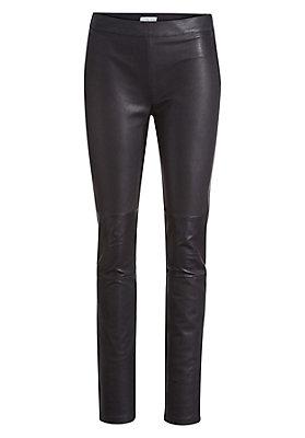 - Damen Lederhose aus Rhabarber-Leder mit Bio-Baumwolle