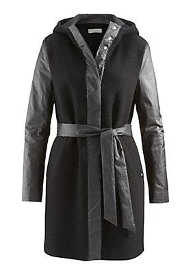 - Damen Mantel aus Schurwolle mit Bio-Baumwolle