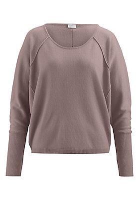 - Damen Pullover mit Fledermausärmeln aus reiner Schurwolle