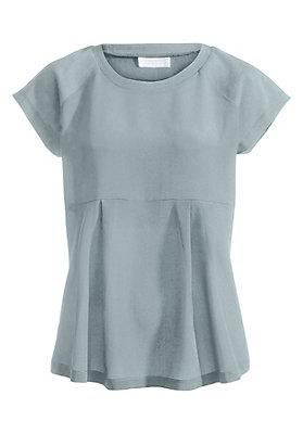 - Damen Shirt aus reiner Bio-Baumwolle mit Seidenpatch