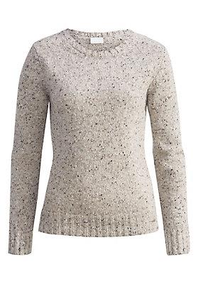 - Damen Tweedpullover aus reiner Schurwolle