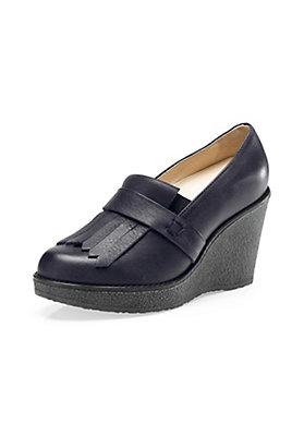 - Damen Wedge-Slipper aus Leder